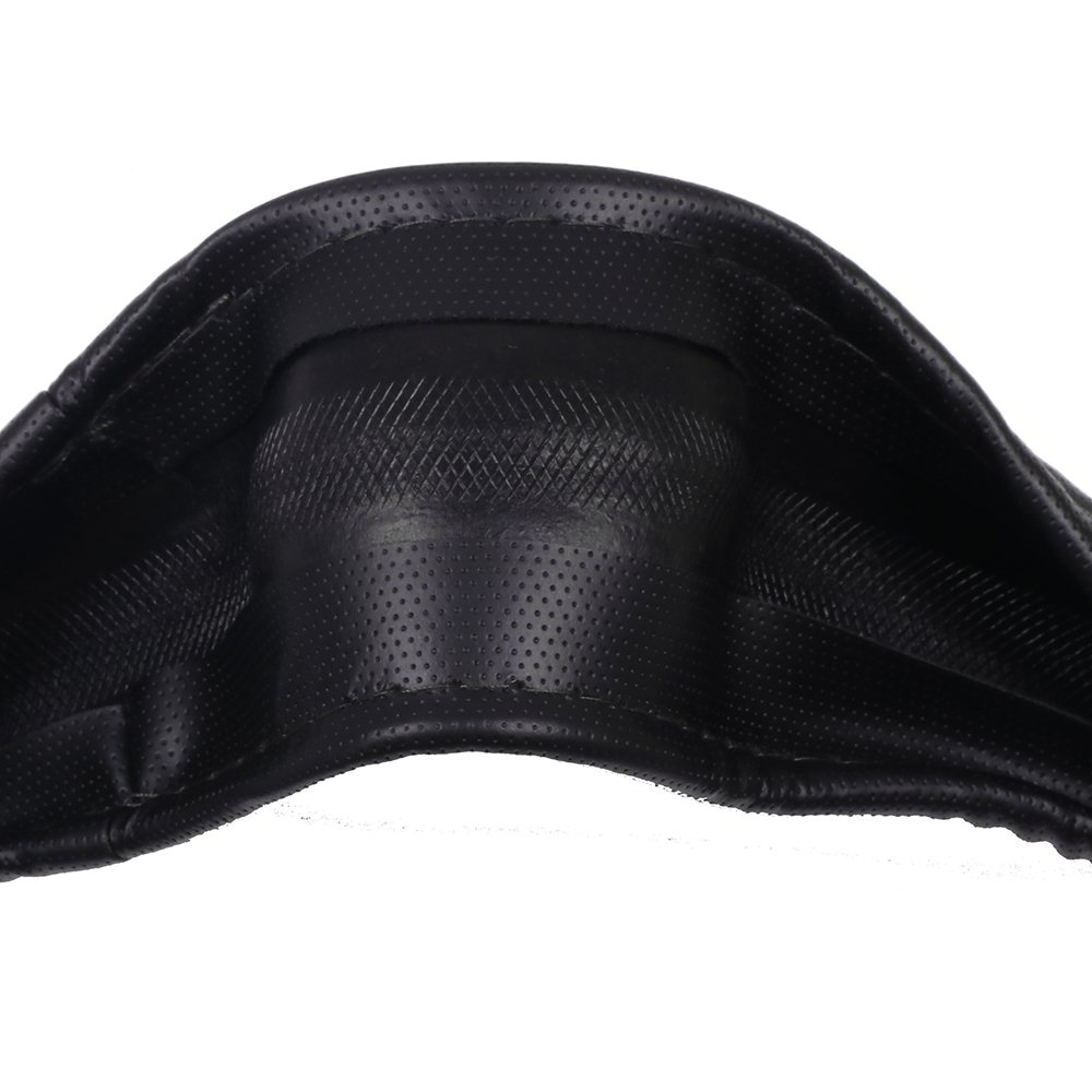 SCITOO Black and Grey Universal 15 Inch Steering Wheel Cover PVC Leather Protection Auto Steering Wheel Cover 116018-5206-1154126834