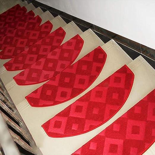 Sólido de color huellas de escalón alfombrilla antideslizante for alfombras de escaleras Espesar antideslizante Escalera Mats, Interior Exterior Escalera Mats (Color : M , Size : 65X24CM glue-free) : Amazon.es: Hogar