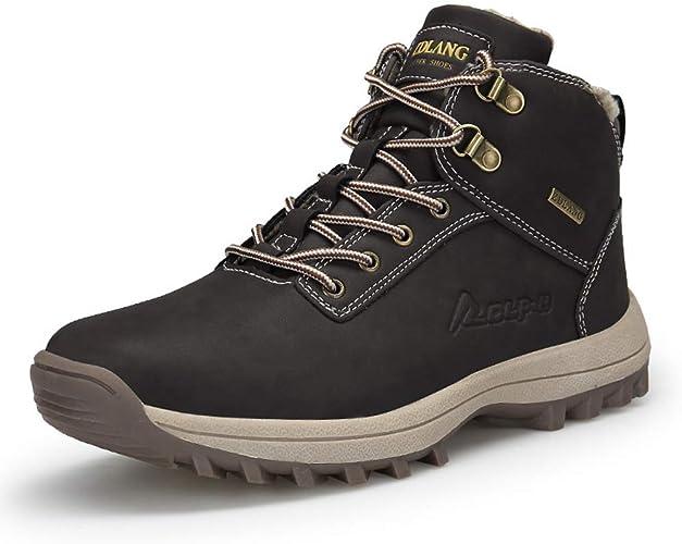 Boots Chaussures Trekking Fourrure Outdoor Bottes Neige Hiver Randonnée de Sneakers Homme Imperméable HED2I9