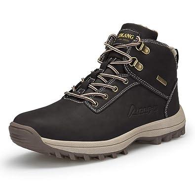 fd16d0006ff13f Chaussures Trekking Homme Bottes de Neige Hiver Imperméable Randonnée  Outdoor Boots Fourrure Sneakers