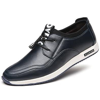 Hommes Chaussures en Microfibre Cire Élastique Plat Semelle Antidérapantc Bout  Pointu Sport Loisir Derby Loafers Casual