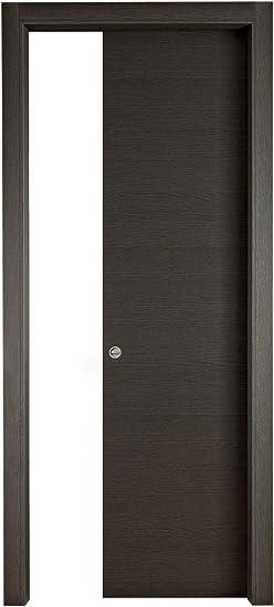 Puerta corredera interior pared Torino 400 N roble gris, cm 210 x 70: Amazon.es: Bricolaje y herramientas