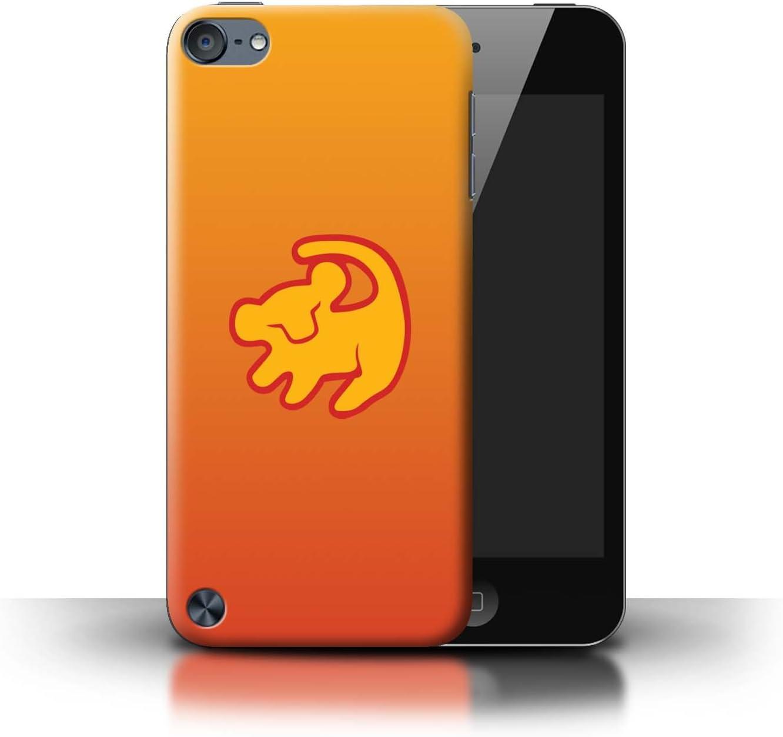 Serie eSwish Carcasa//Funda Dura para el Apple iPod Touch 5 Dibujos Animados Animales Africanos Lion Symbol