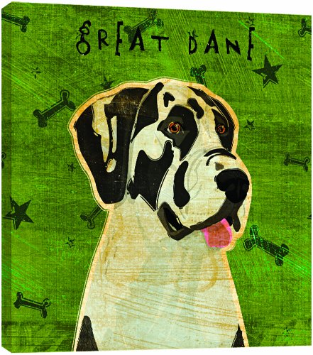 Tree-Free Greetings 84072 Eco Art Wall Plaque, 11.25 by 11.25 by 0.5-Inch, Harlequin Great (Great Dane Merchandise)