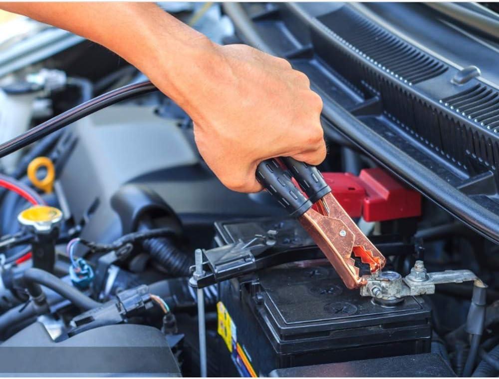 Emergency Roadside Car Kit Multipurpose Emergency Pack Car Premium Road Kit Essentials Jumper Cables Set 8 Foot 122 Pieces