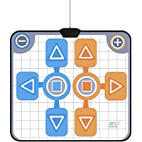 Double Person Dancing Mat,Non-Slip Game Dance Pads for Wii Console Game,Plug and Play for 2 Player