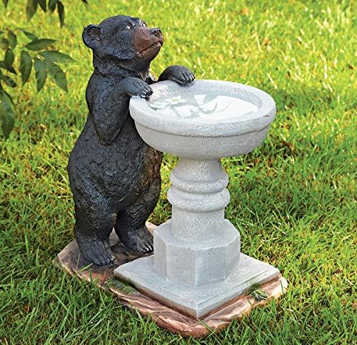 Black Bear Cub Bird Bath