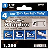 Heavy Duty, Chisel Point, 1/4'' Arrow T50 Type Staple 1250/Box, 5 Pack