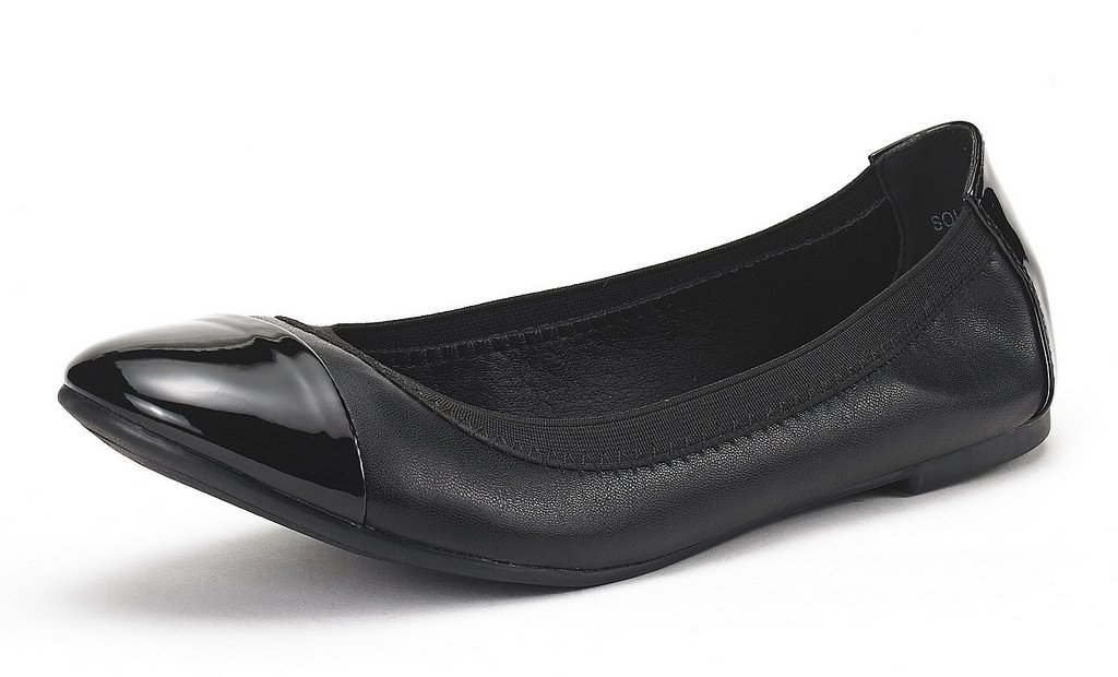 DREAM PAIRS Women's Sole-Flex Black Ballerina Walking Flats Shoes - 11 M US