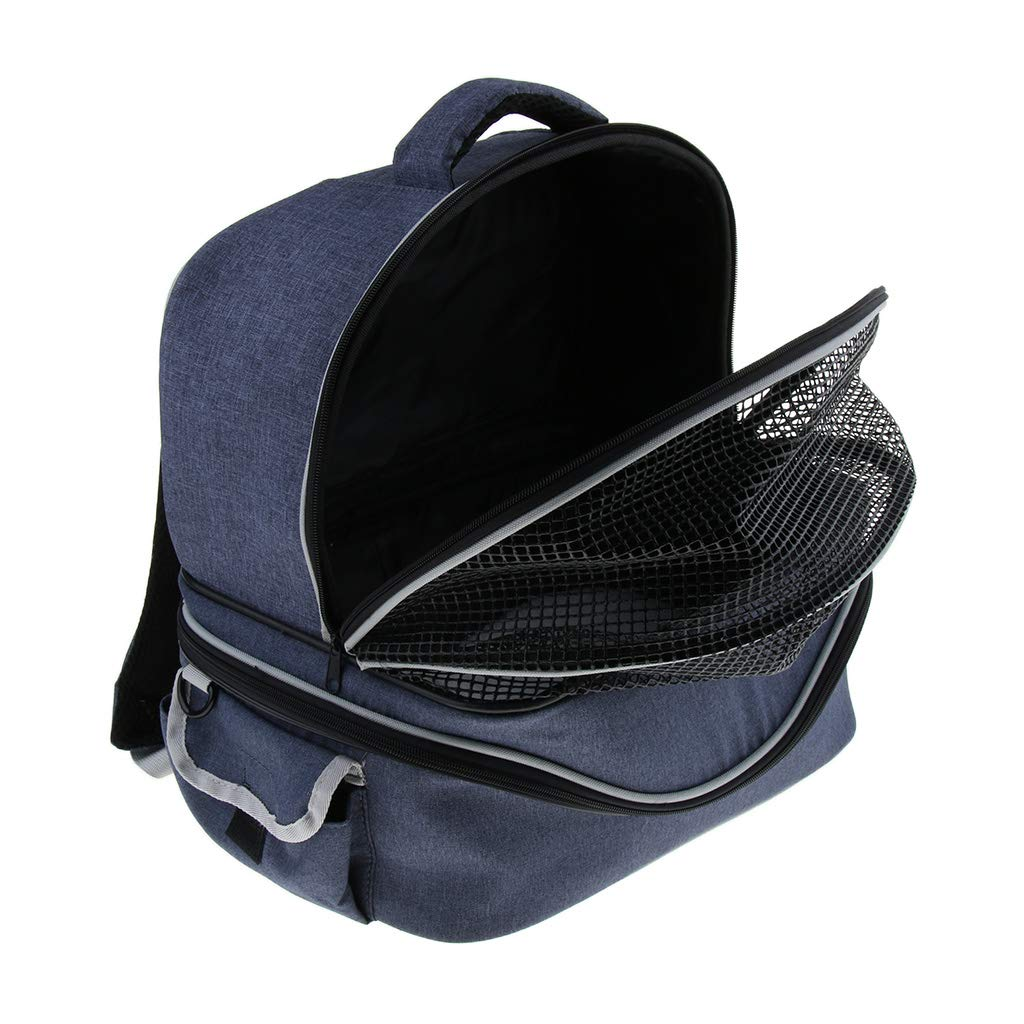 D DOLITY Multifunctional Pets Backpack Carrier Soft-Sided Bag Travel Pouch for Pet Dog Cat Double Shoulder Carry Bag, Detachable to be a Cat Litter Dog Nest