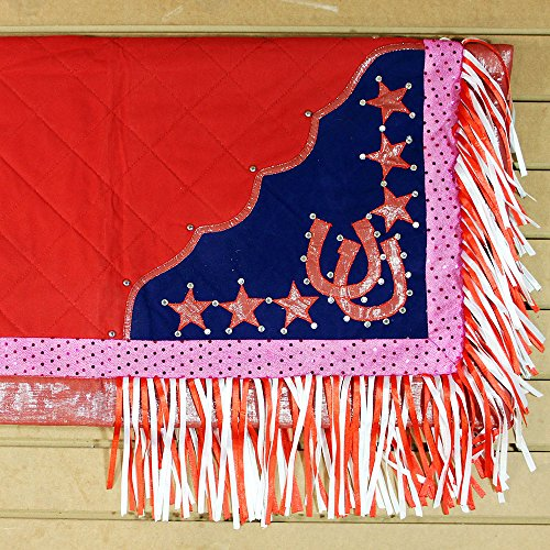 HILASON CSB920 WESTERN SHOW BARREL RACING RODEO SADDLE BLANKET PAD PINK & BLUE