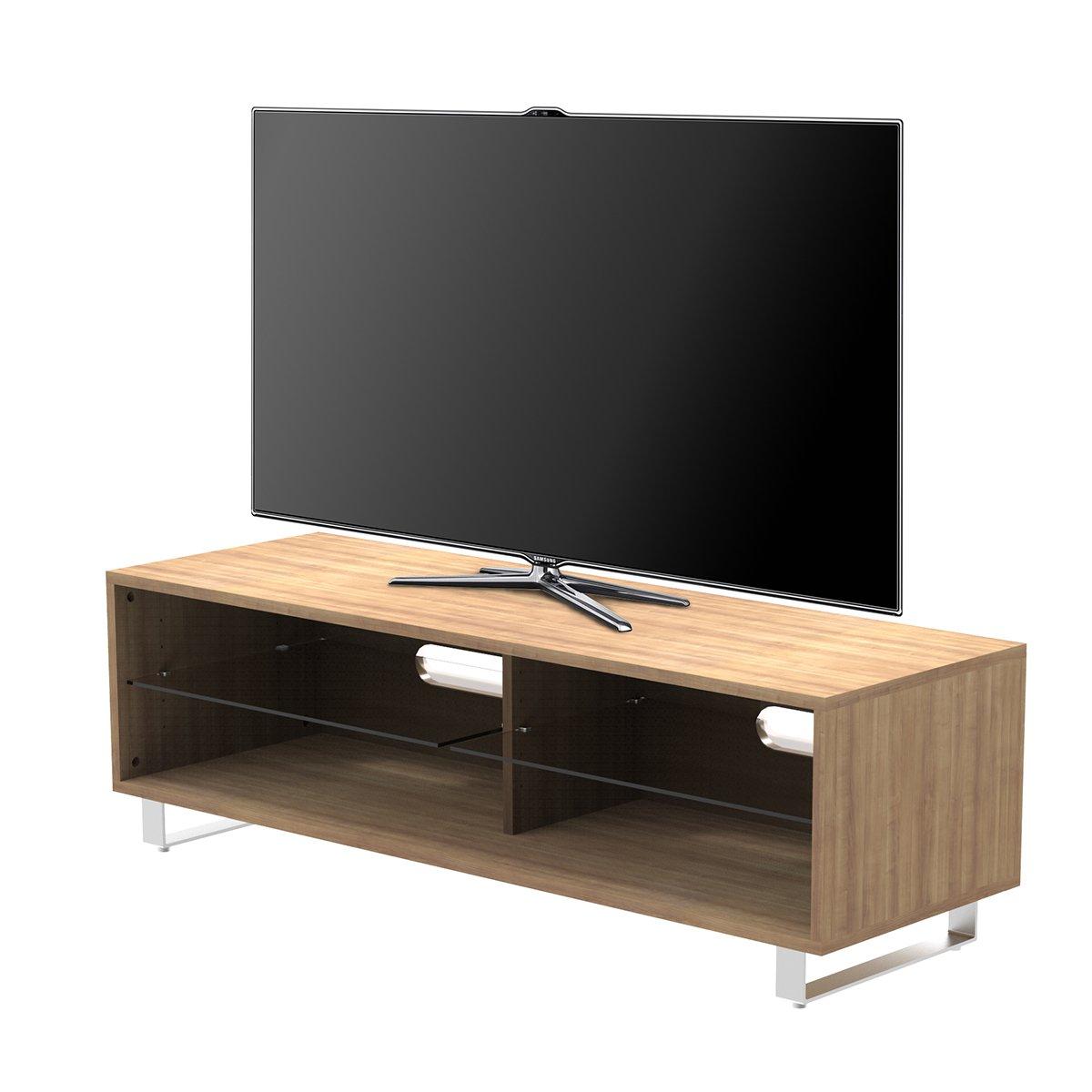 1home Tv Cabinet Bois Etag Res Adjustable Pieds Forme U Largeur  # Meuble Tv Brut