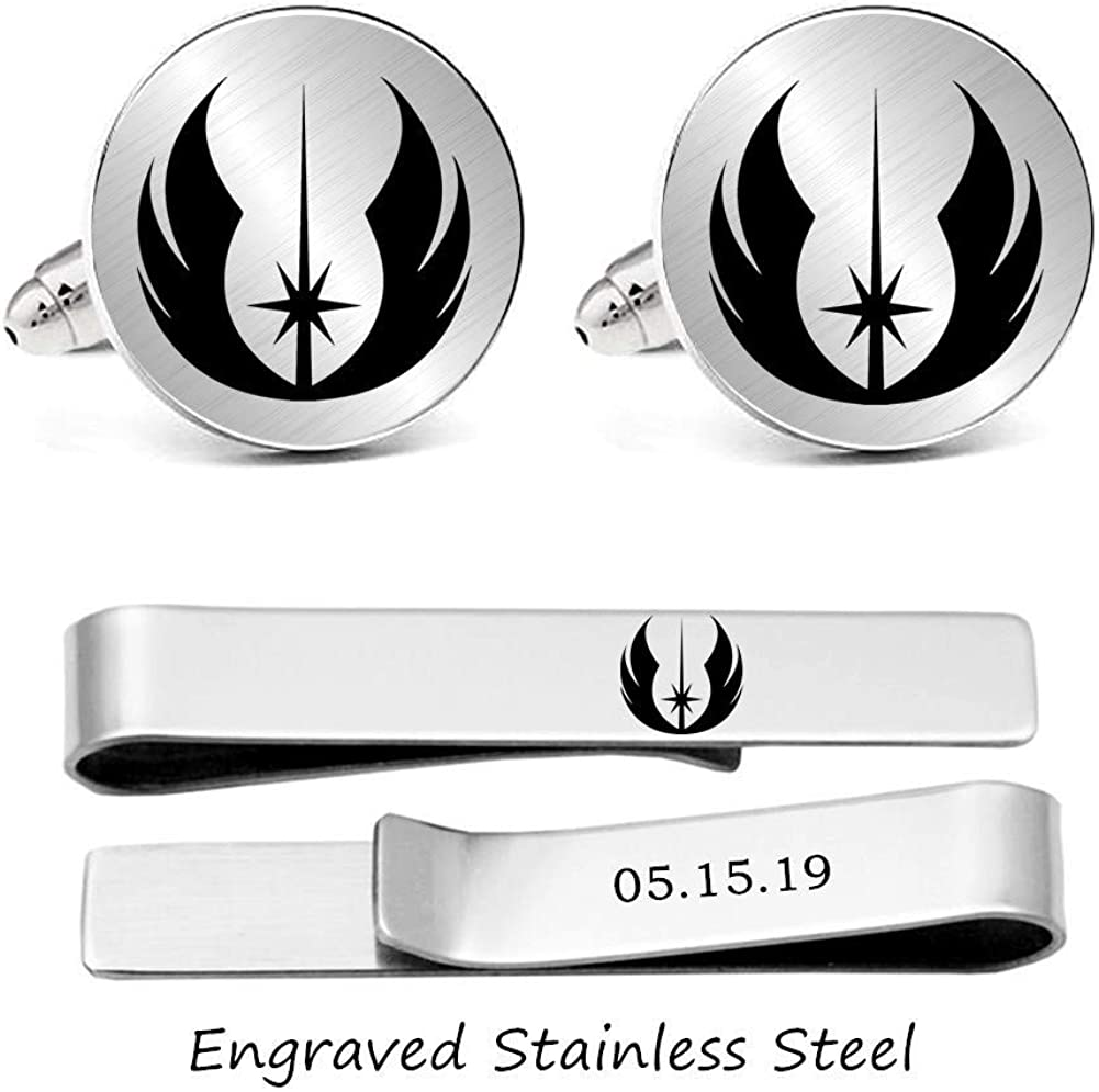 Kooer I Love You I Know Custom Personalized Wedding Engraved Cuff Links Tie Clip Set Engrave Wedding Cufflinks Jewelry Gift for Groom