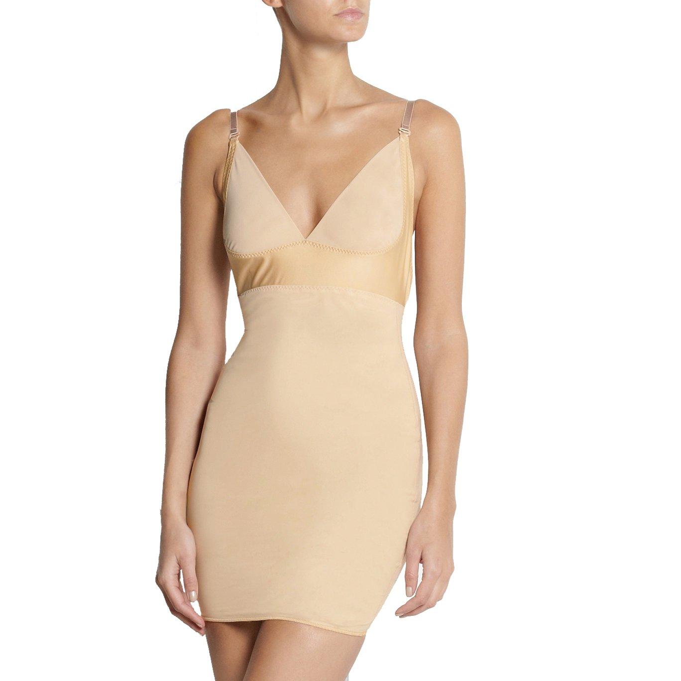 AICONL Women's Control Slip Dress Seamless Full Body Shaper Under Dresses