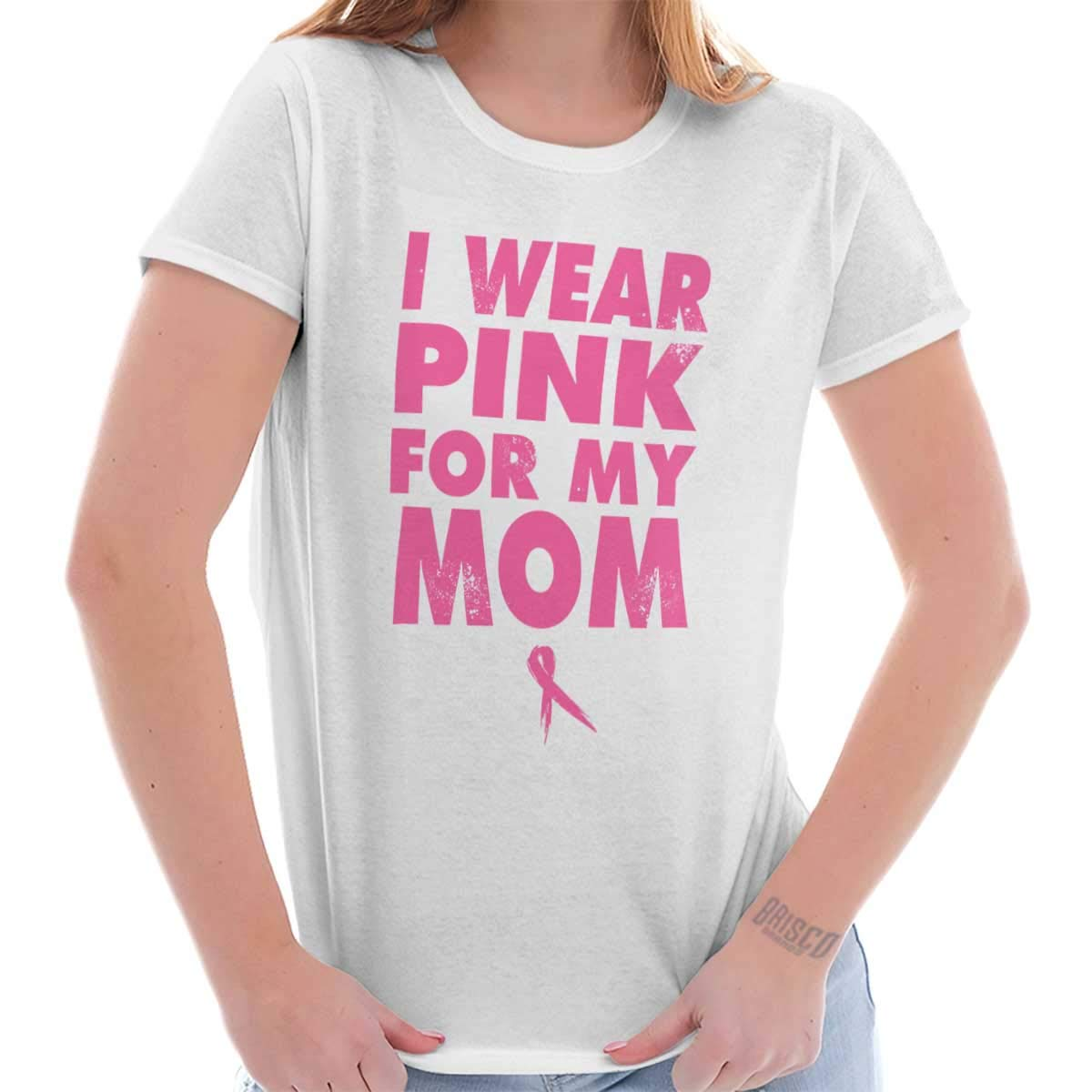 Pink For Mom Breast Cancer Survivor Fighter T Shirt 2587