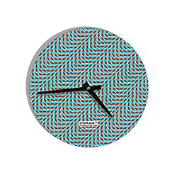 TooLoud Swimming Fish Optical Illusion 8 Round Wall Clock All Over Print
