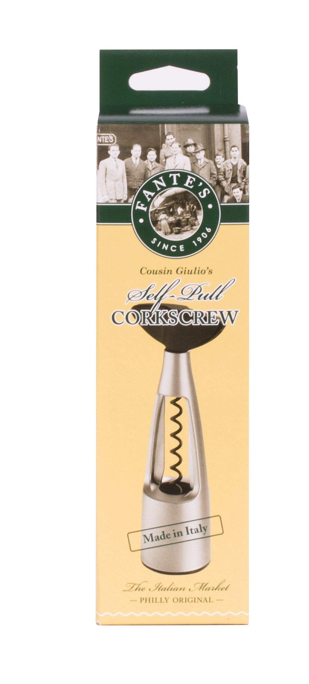 Fantes Self-Pull Corkscrew, Made in Italy, The