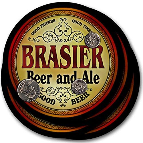 Brasierビール& Ale – 4パックドリンクコースター   B003QXVLCE