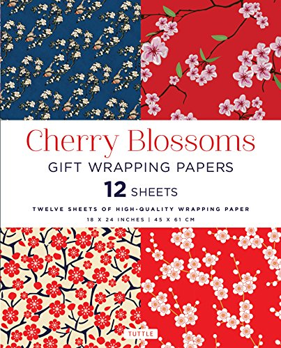 Pdf Crafts Cherry Blossoms Gift Wrapping Papers: 12 Sheets of High-Quality 18 x 24 inch Wrapping Paper