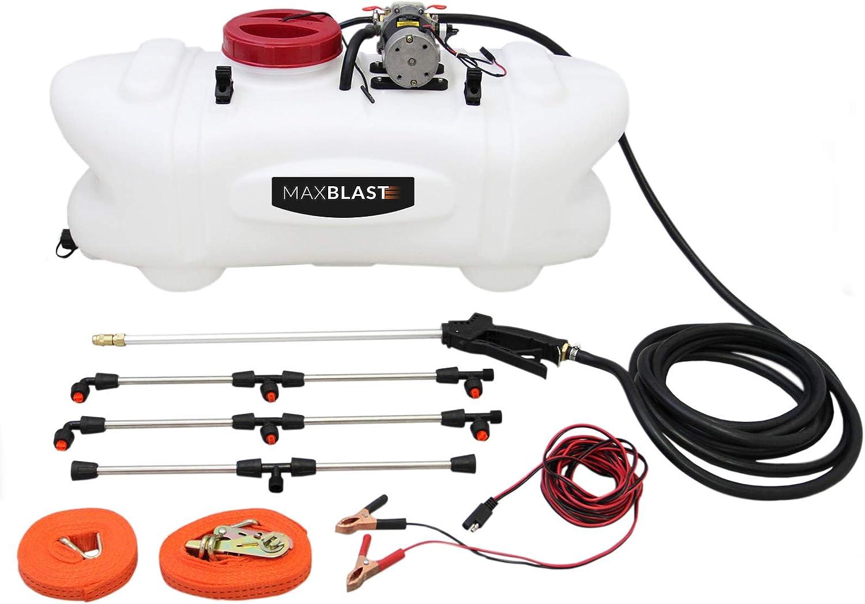 MaxBlast 60L Pulverizador ATV 60L Pulverizador de 12 Voltios con Barra y Accesorios Fertilizantes para Tractores Cuádruples Pesticidas Agrícolas