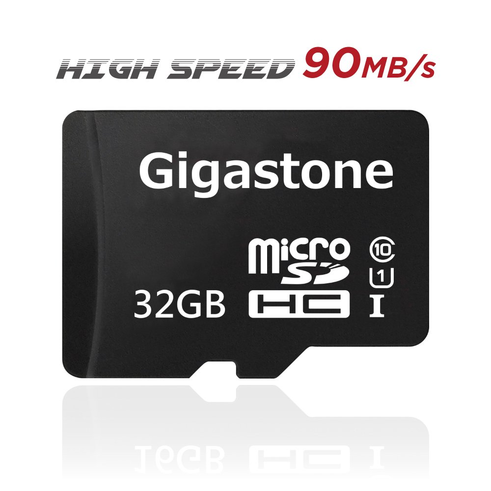 Gigastone GS-2IN1C1032G-R 32GB 90MB/s (U1), Micro SD Card with Adapter [MicroSD for Samsung Galaxy Android Phone, Tablet, DSLR, GoPro Camera, Drone, PC]