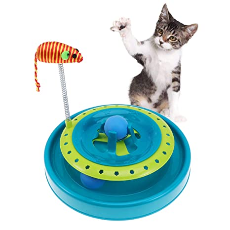 POPETPOP Cats Moving Toys Rolling Rolling Ball Orbital ...