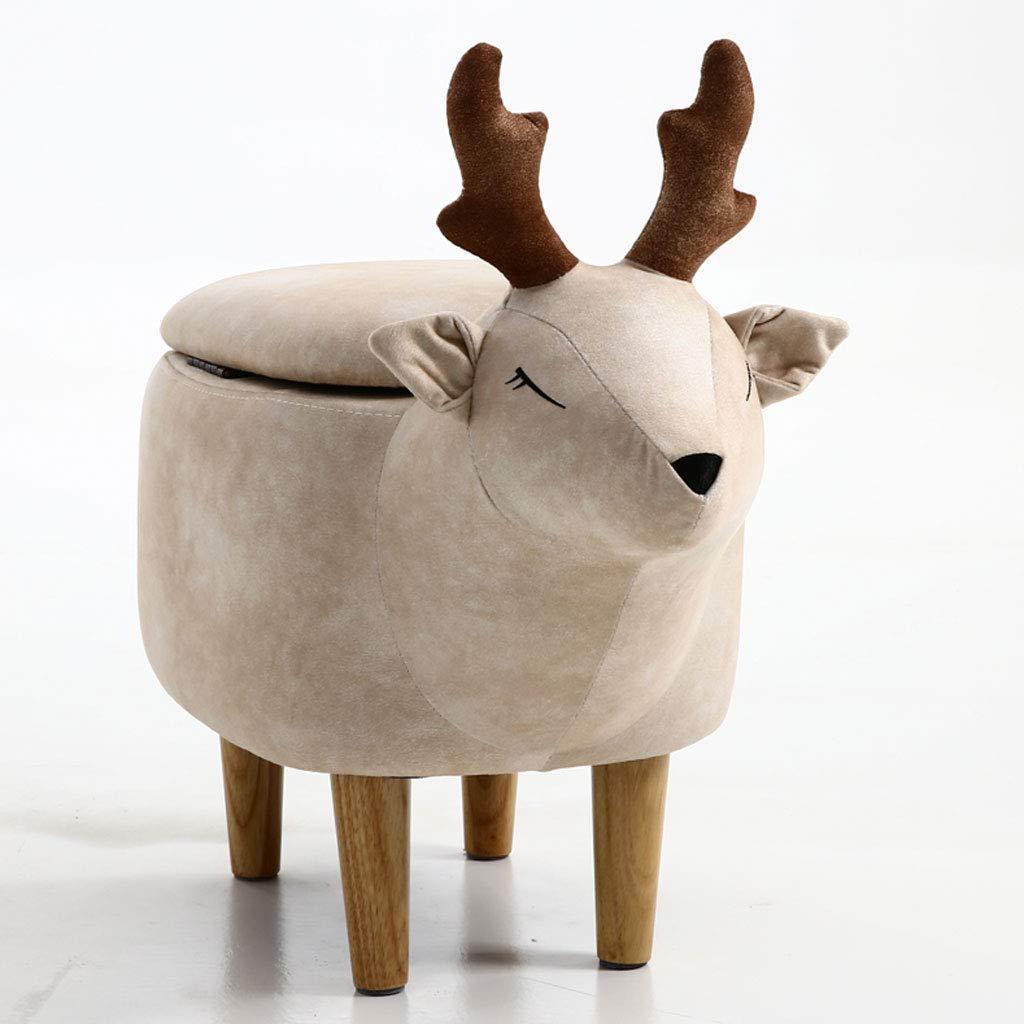 ストレージオットマンの木製の近代的なシンプルさ家庭の子牛の交換靴ベンチフットスツール低スツール多色 (色 : ベージュ) B07LBFG7JJ ベージュ