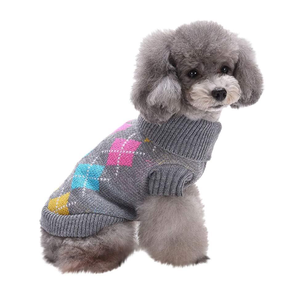 FAMILIZO Mascotas Mascota Perro Gato Invierno Cálido Amor Suéter Abrigo Traje De Vestir Perro Ropa Invierno: Amazon.es: Productos para mascotas