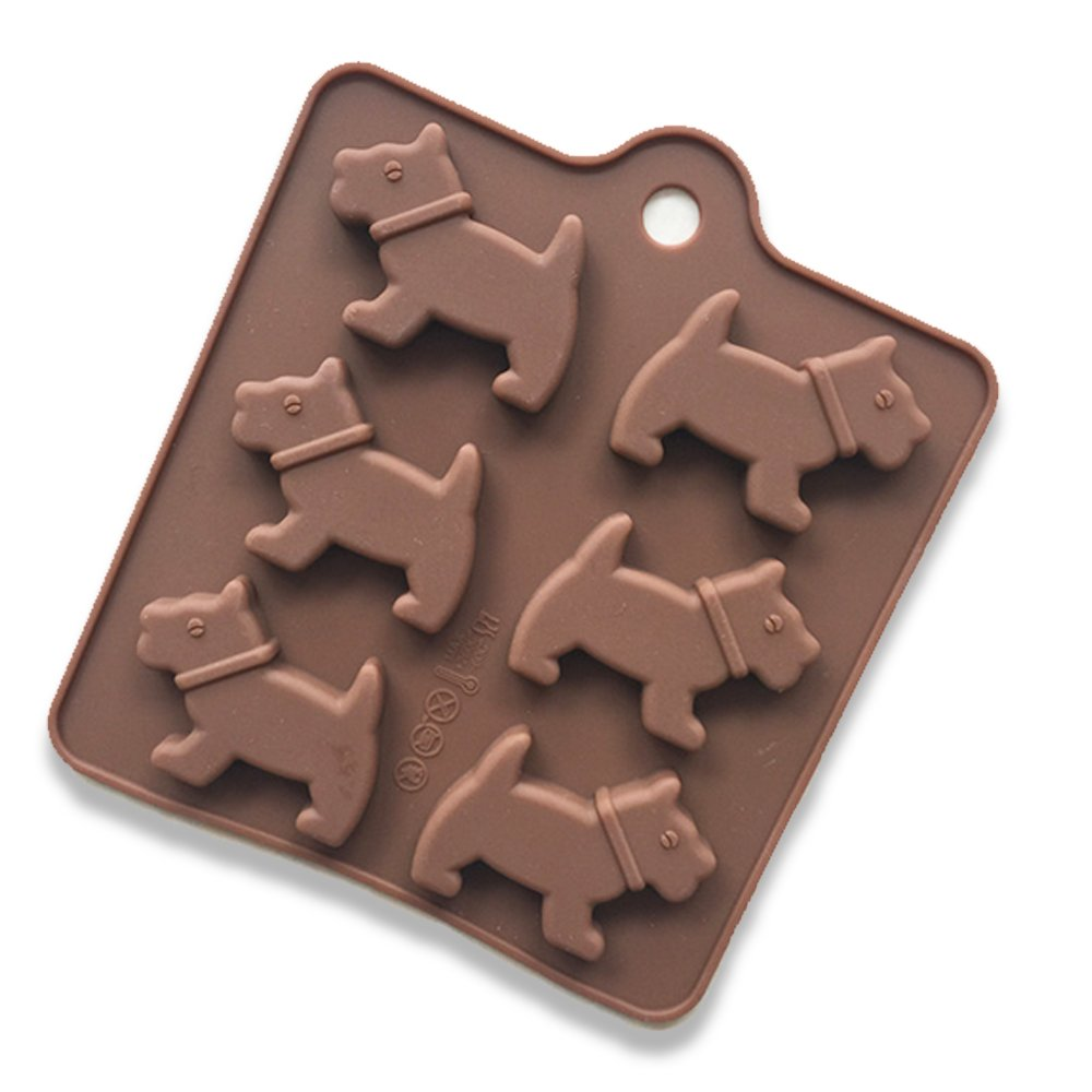 Dog Cake Mold Silicone Mold for Candy Chocolate Bakeware Mould 6 Cavity Ndier