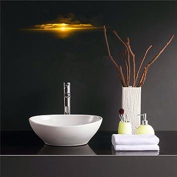 Weiss Keramik Oberflache Oval Rund Aufsatzwaschbecken Waschbecken