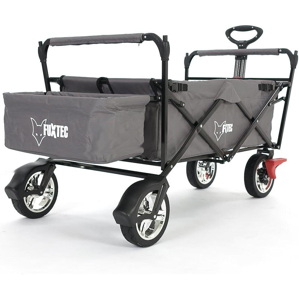 Auf der Suche nach einem faltbaren Bollerwagen werden Sie bei dem Hersteller Fuxtec fündig.