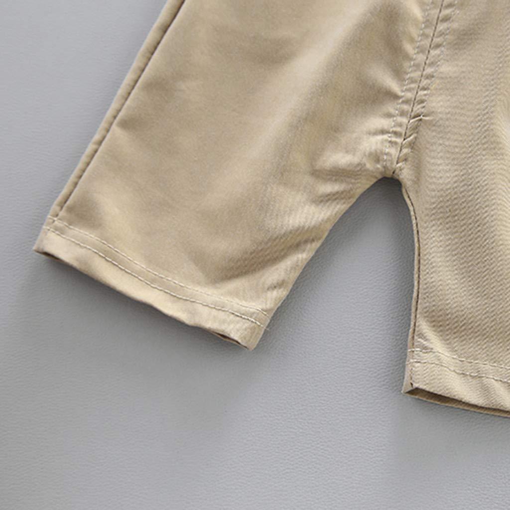 12m-3y SANNYSISKids Short Sleeved Striped top Monogrammed Short Pants Two-Piece Set