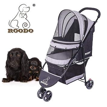 Amazon.com: ROODO Escort cochecito para mascotas de 3 ruedas ...