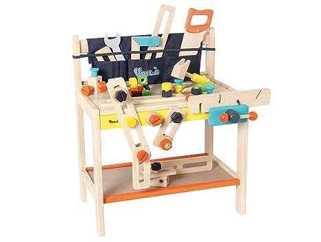 Banco Di Lavoro Meccanico : Banco da lavoro giocattolo con attrezzi in legno cm per