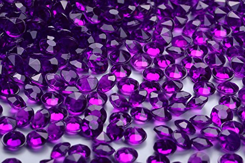 5000 pcs/pack Wedding Table Scatter Confetti Crystals Acrylic Diamonds 6 mm Rhinestones for Wedding, Bridal Shower, Vase Beads Decorations (6mm, dark ()
