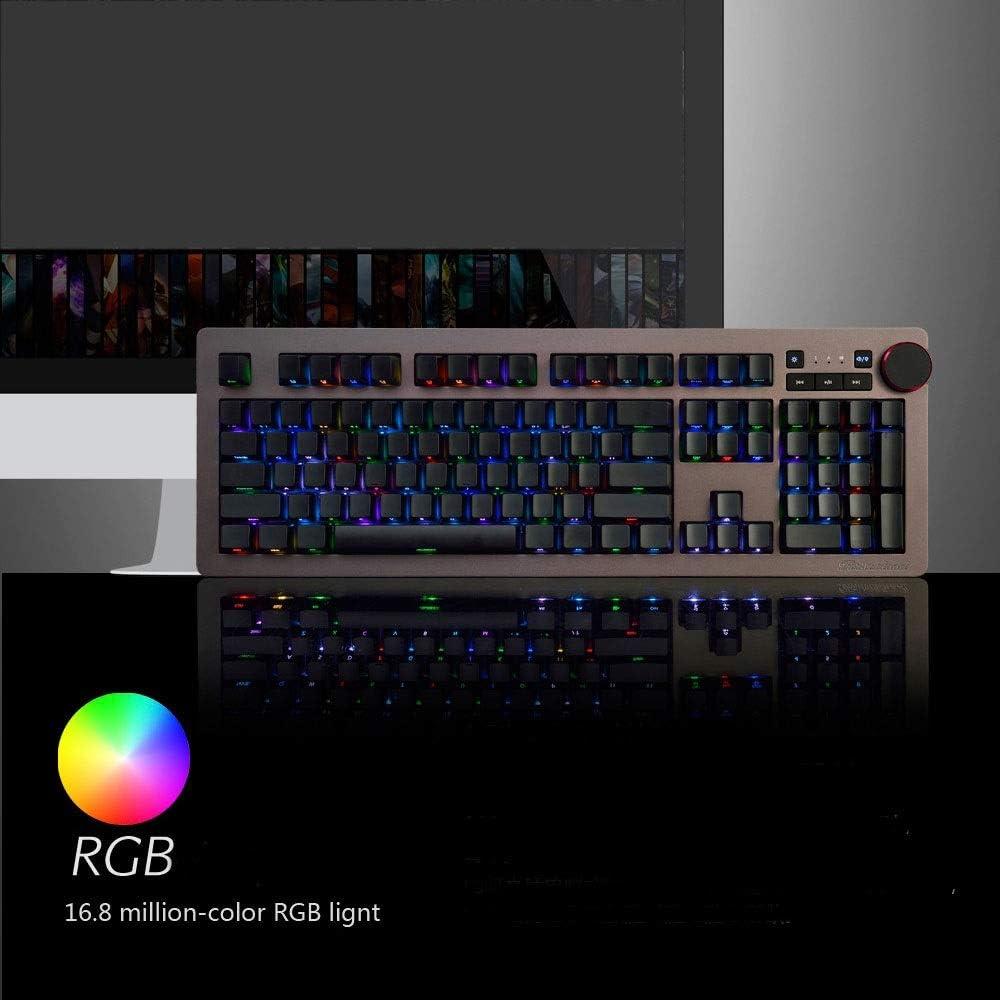 Teclado técnico Green Axis Negro Axis Té Axis RGB Cable ...