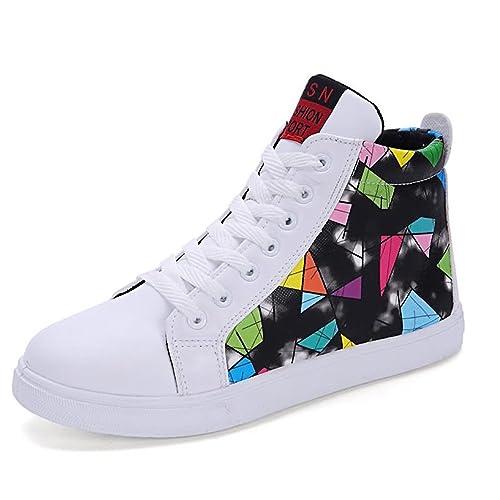 4628de222 Zapatillas de Moda para Hombres Casual Camuflaje Color Alta Ayuda Color  Tendencia Personalidad Zapatos Deportivos  Amazon.es  Zapatos y complementos