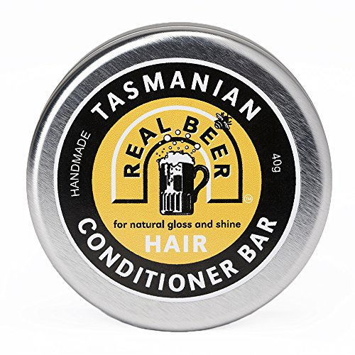 Real Beer Original Hair Conditioner Bar | 100% Natural Hair Care | Organic Essential Oils & Leatherwood Honey | Strengthening | Moisturizes Detangles | Sulfate & Paraben Free | Tasmania Australia