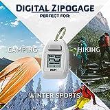 Sun Company Digital Zipogage - Compact Zipperpull