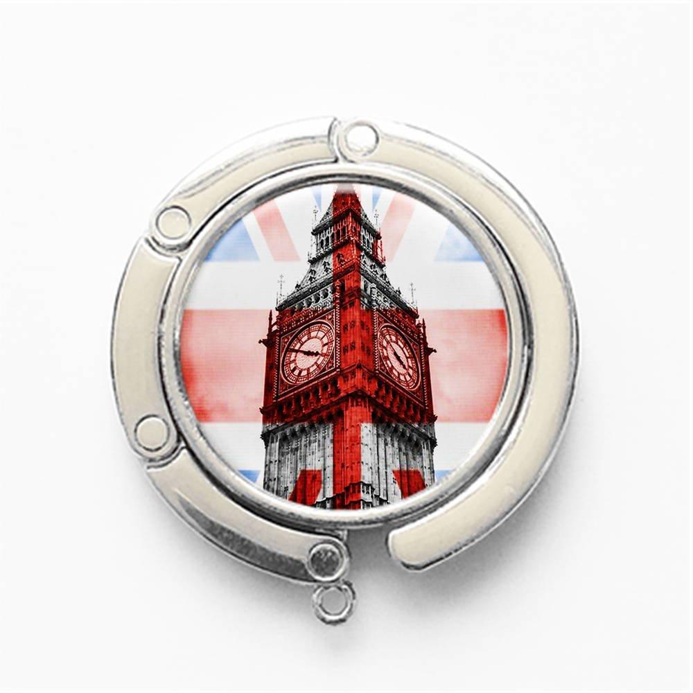 Big Ben in Britain Table Hook Folding Bag Desk Hanger Foldable Holder