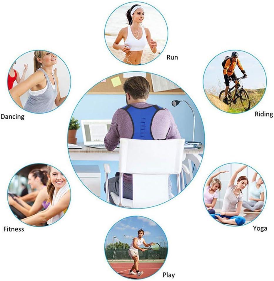 Regolabile Correttore di Postura Indietro Traspirante Supporto a Fascia Regolabile Postura Correzione Cintura di Sostegno Lombare per Uomo e Donna 2XL