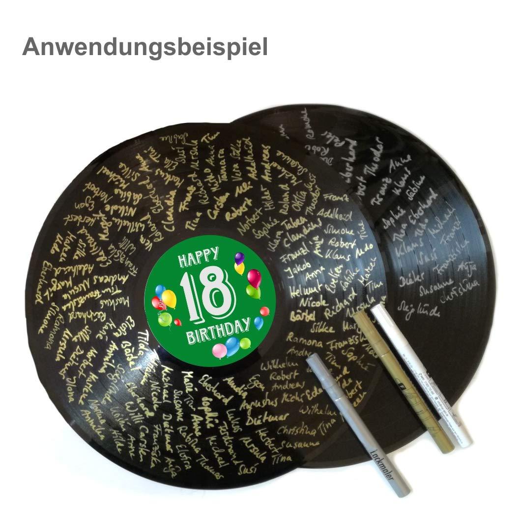 con Penna Herzl-Manufaktur in Vinile Libro degli Ospiti per 18/° Compleanno