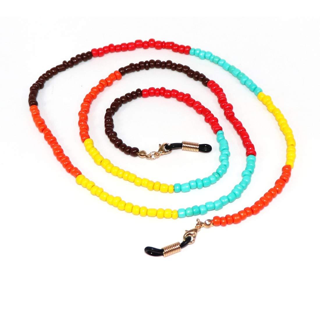 Cute Colorful Beaded Eyeglass Chains Sunglass Holder Strap Eyewear Retainer Lanyard