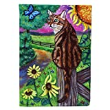 Caroline's Treasures 7425GF Bengal Cat Garden Flag, Small, Multicolor