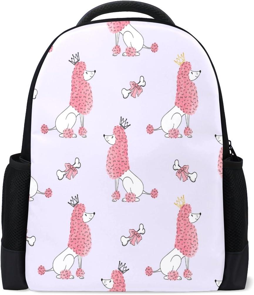 ALAZA Princess Poodle Casual Backpack Waterproof Computer Laptop School Bag