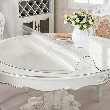 HOMEJYMADE Tapa de Mesa de PVC Transparente de Cristal Grueso,Protector de Mesa Multi-