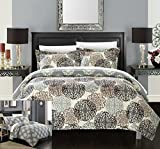 quilt clearance - Chic Home 3 Piece Kelsie Boho Inspired Reversible Print Quilt Set, Queen, Beige