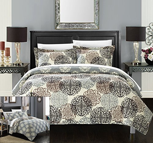 Chic Home 2 Piece Kelsie Boho Inspired Reversible Print Quil
