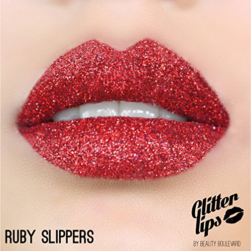 (Glitter Lips by Beauty Boulevard - The #1 Exclusive Long Lasting Premium Glitter Lip Product (Ruby)