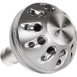 ゴメクサス 35 38mm パワー リール ハンドル ノブ シマノ ダイワ (Shimano) Type A (Daiwa) Type S 用, セルテート フリームス ナスキー カルディア ストラディック 用 アルミ Gomexus ダイヤモンド柄